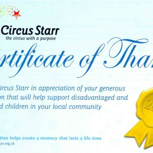 GWP CONTINUE TO SUPPORT CIRCUS STARR
