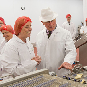 ABERGAVENNY FINE FOODS FACILITY OFFICALLY OPENED BY PRINCE OF WALES