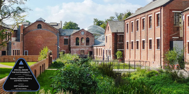 BOMBAY SAPPHIRE DISTILLERY WINS SPECIAL AWARD FOR SUSTAINABILITY