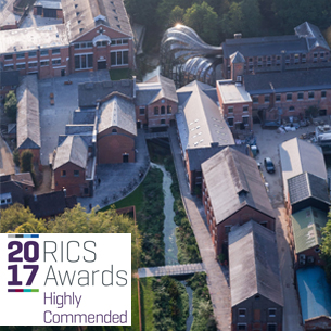 RICS AWARDS SEES BOMBAY SAPPHIRE DISTILLERY HIGHLY COMMENDED